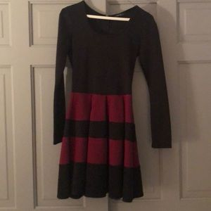 The Vintage Shop Black and Maroon Dress